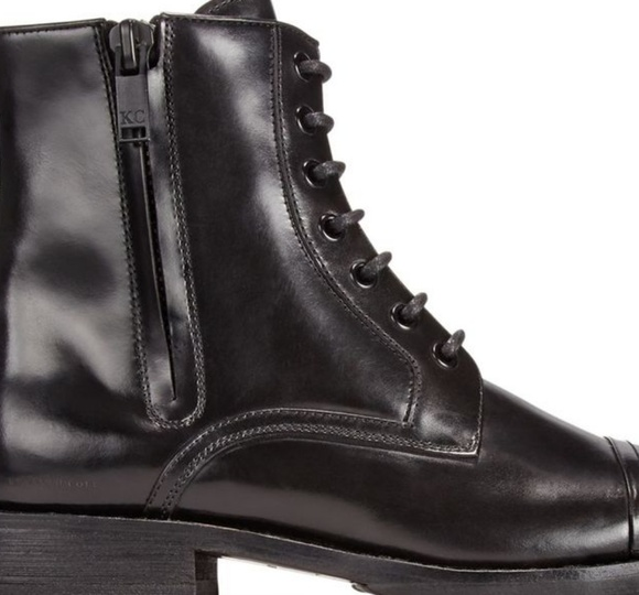 Mens Black Kenneth Cole Combat Boots Sz
